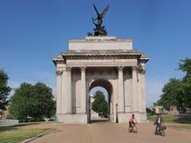 Duc de Wellington Memorial Arch, Londres Photographie stock libre de droits