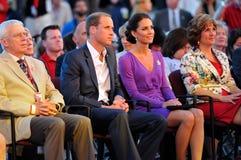 Duc et duchesse de Cambridge Images libres de droits