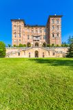 Ducal Aglie` castle in Piedmont, Italy. Aglie`,Turin, Piedmont, Italy, 09 May 2017. Ducal Aglie` castle, located in Aglie` little village near of Turin Stock Photo