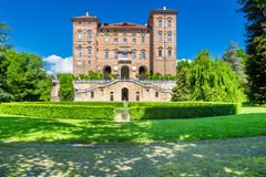 Ducal Aglie` castle in Piedmont, Italy. Aglie`,Turin, Piedmont, Italy, 09 May 2017. Ducal Aglie` castle, located in Aglie` little village near of Turin Royalty Free Stock Images