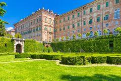 Ducal Aglie` castle, in Piedmont, Italy. Ducal Aglie` castle, located in Piedmont Turin district, north Italy Royalty Free Stock Image