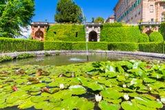 Ducal Aglie ` kasztel w Podgórskim, Włochy Obraz Stock
