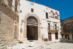Ducal castle. Ceglie Messapica. Puglia. Italy. Royalty Free Stock Images