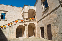Ducal castle. Ceglie Messapica. Puglia. Italy. Stock Photos