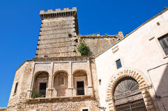 Ducal castle. Ceglie Messapica. Puglia. Italy. Perspective of Ducal castle of Ceglie Messapica. Puglia. Italy Stock Images