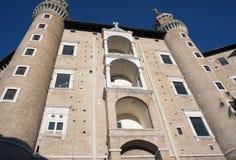 Ducal Palace. Façade in Urbino, Italy royalty free stock photos