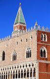 Ducal Palace and the Bell Tower of Saint Mark in Venice. Italy Stock Photo