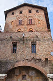 Ducal palace. Castell'Arquato. Emilia-Romagna. Italy. Stock Photo