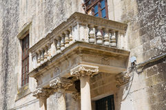 Ducal palace of Castromediano-Limburg. Cavallino. Puglia. Italy. Stock Images