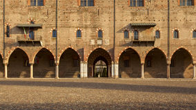 Ducal palace in the city of mantua. Amazing ducal palace in the city of mantua Stock Image