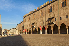 Ducal palace in the city of mantua. Amazing ducal palace in the city of mantua Stock Photography
