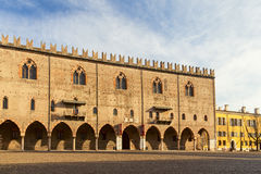 Ducal palace in the city of mantua. Amazing ducal palace in the city of mantua Stock Images