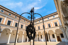 Ducal Palace courtyard in Urbino, Italy Stock Photography