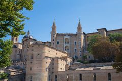 Ducal Palace. Front View of the Ducal Palace in Urbino Stock Photos