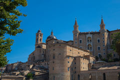 Ducal Palace. Front View of the Ducal Palace in Urbino Royalty Free Stock Image