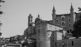 Ducal Palace. Front View of the Ducal Palace in Urbino Royalty Free Stock Photography