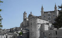 Ducal Palace. Front View of the Ducal Palace in Urbino Stock Images