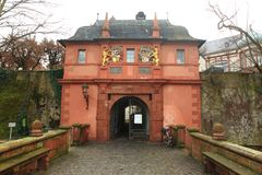 Ducal palace gate in Darmstadt. Germany royalty free stock images