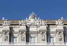 Ducal Palace in Genoa. Overview of the roof of Ducal Palace in Genoa stock photo