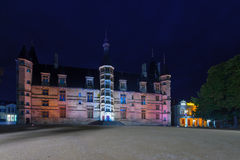 Ducal Palace in Nevers. Night view of the Ducal Palace in Nevers, Burgundy, France Royalty Free Stock Image