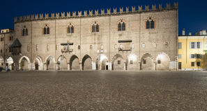 Ducal palace at night mantua lombardy Italy europe Royalty Free Stock Images