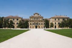 Ducal Palace. Parma. Emilia-Romagna. Italy. Perspective of the Ducal Palace. Parma. Emilia-Romagna. Italy royalty free stock photos