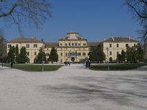 Ducal Palace in Parma. Ducal Palace is located inside Ducal Park and it was designed by the architect Barozzi for the Duke Farnese. Inside there are frescos by stock image