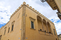 Ducal palace. Presicce. Puglia. Italy. Stock Images