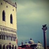 Ducal Palace and saint George Church in Italy Royalty Free Stock Photography
