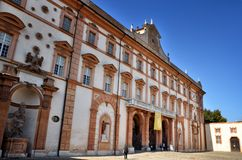 Italian destination, Ducal palace of Sassuolo, old summer residence of Este family. The Ducal Palace in Sassuolo is a Baroque villa located in the town of stock photo