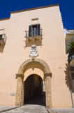Ducal palace. Taurisano. Puglia. Italy. Royalty Free Stock Photo