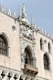 Ducal Palace in Venetian-style architecture in Venice. Detail of Ducal Palace in  in Venice Royalty Free Stock Photo