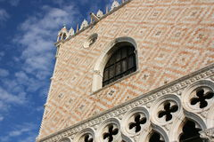Ducal Palace in Venice (Italy). And blue sky with clouds Royalty Free Stock Photography