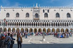 Ducal Palace, Venice. Ducal Palace, San Marco square in Venice Stock Photos