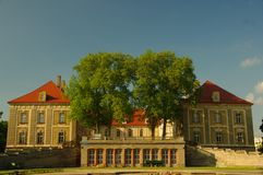 Ducal Palace in Zagan. Stock Images