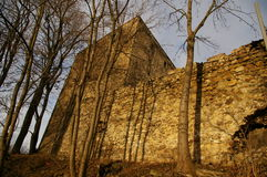 Ducal tower village - Stara Lomnica, autumn, Poland Royalty Free Stock Images