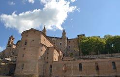 Ducale di Palazzo a Urbino Immagini Stock Libere da Diritti