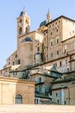 Ducale slott i den Urbino staden, Marche, Italien Royaltyfri Foto