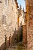 Ducale slott i den Urbino staden, Marche, Italien Arkivfoto
