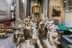 Ducasse de Mons or Doudou in Mons, Belgium. Royalty Free Stock Photos