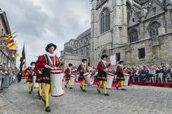 Ducasse de Mons or Doudou in Mons, Belgium. Stock Image