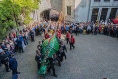 Ducasse De Mons ou Doudou à Mons, Belgique Image libre de droits