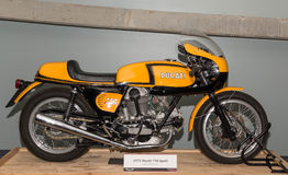 1972年ducati 750体育motercycle 图库摄影