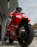 Ducati 2009 Marlboro Yamaha MotoGP Nicky Hayden Foto de Stock Royalty Free