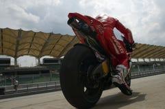 Ducati 2009 Marlboro Yamaha MotoGP Nicky Hayden Imagens de Stock Royalty Free