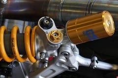 Ducati 1199 de motor en achtersuspensionteam Ducati Alstare Superbike WSBK van Panigale R Stock Fotografie