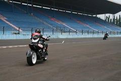 Ducati en pista Imagenes de archivo