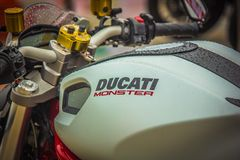 Ducati-Monster Lizenzfreie Stockfotos