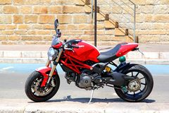 Ducati monster Arkivfoton