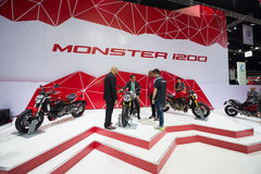 Ducati Monster 1200 on display Royalty Free Stock Image